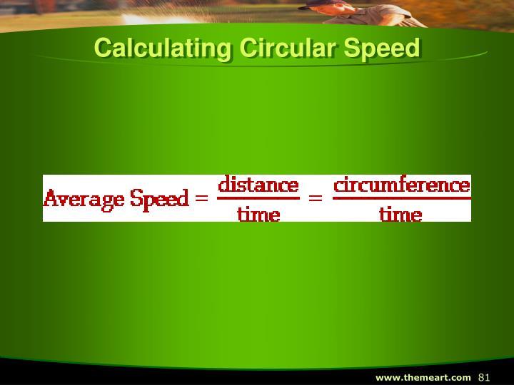 Calculating Circular Speed