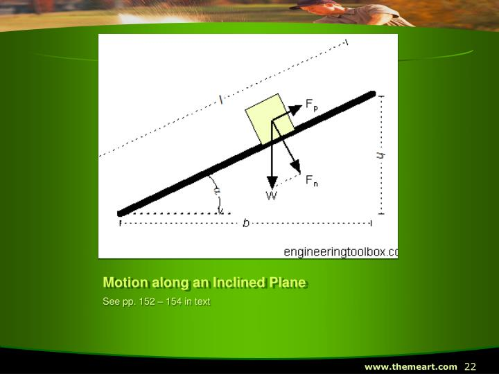 Motion along an Inclined Plane