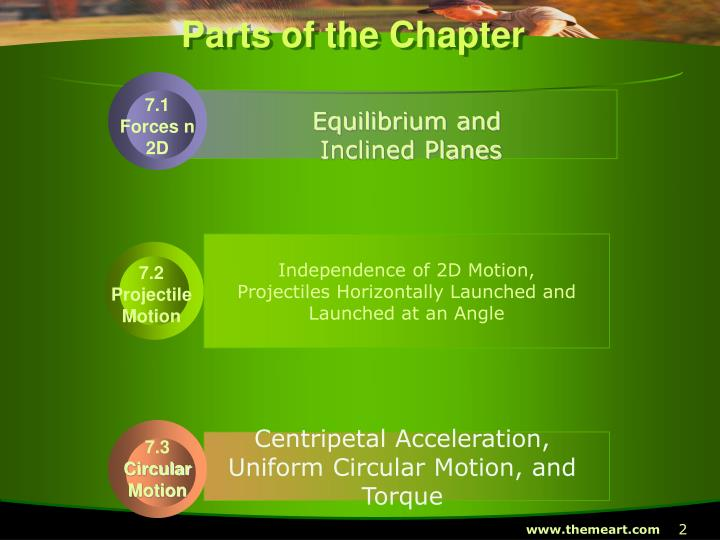 Parts of the Chapter