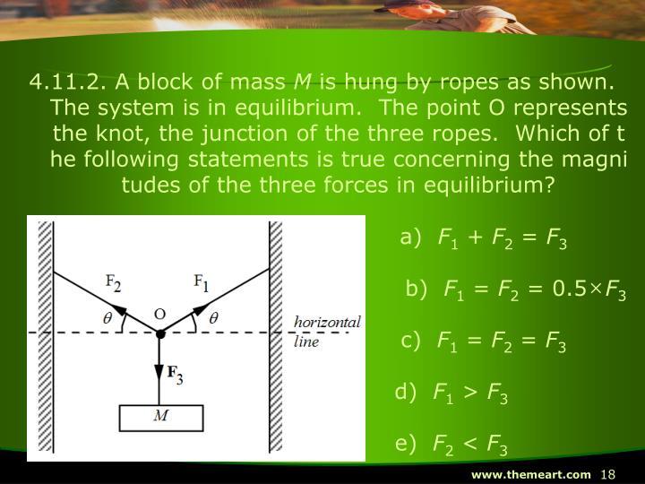 4.11.2. A block of mass