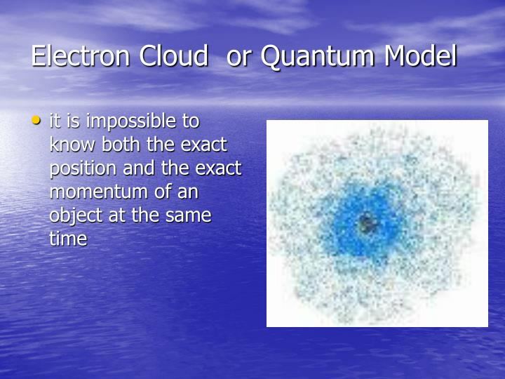 Electron Cloud  or Quantum Model
