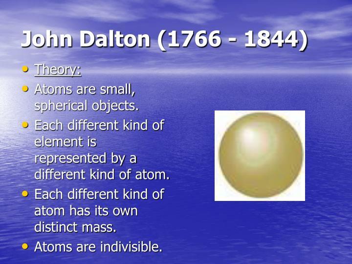 John Dalton (1766 - 1844)