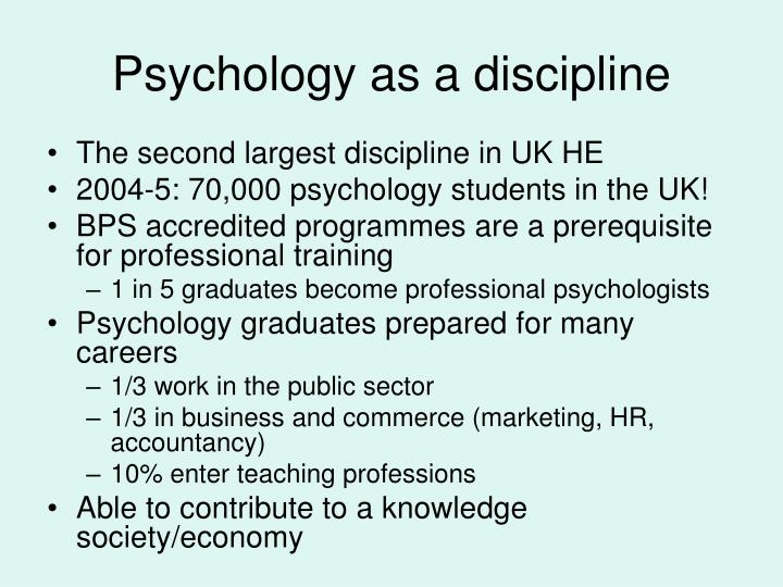 Psychology as a discipline