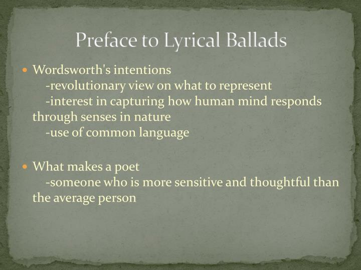 preface to lyrical ballads essay