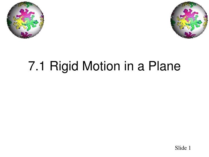 7 1 rigid motion in a plane