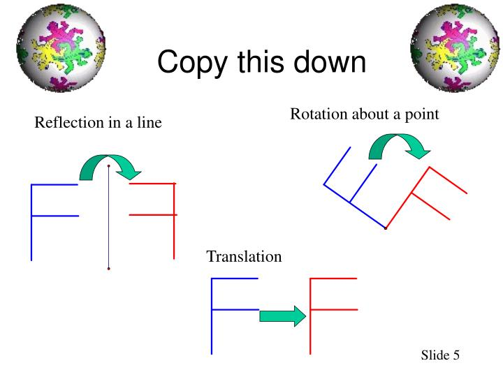 Copy this down