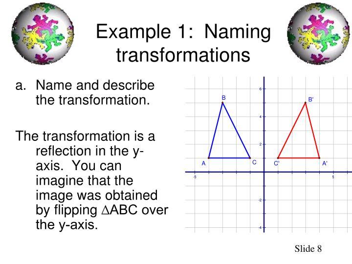 Name and describe the transformation.