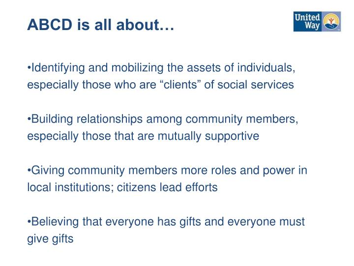 ABCD is all about…