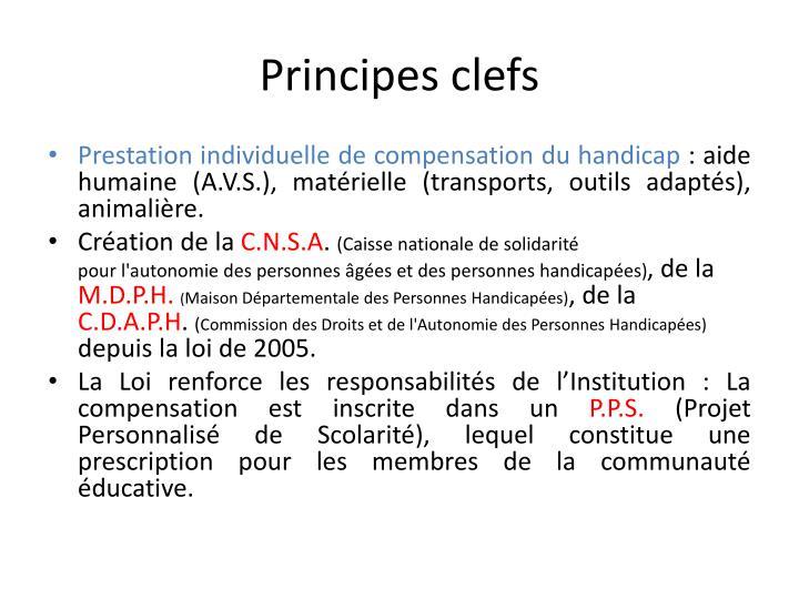Principes clefs