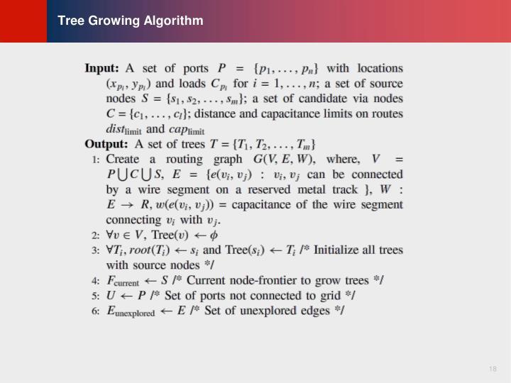 Tree Growing Algorithm