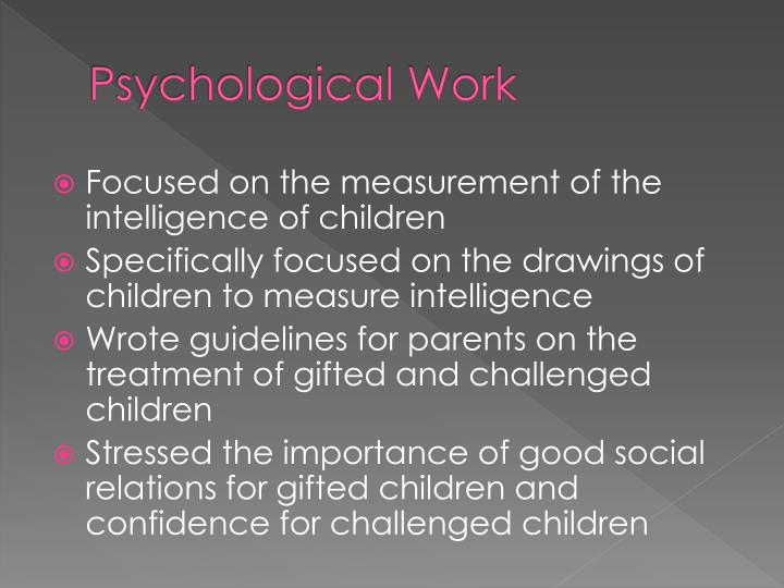 Psychological Work