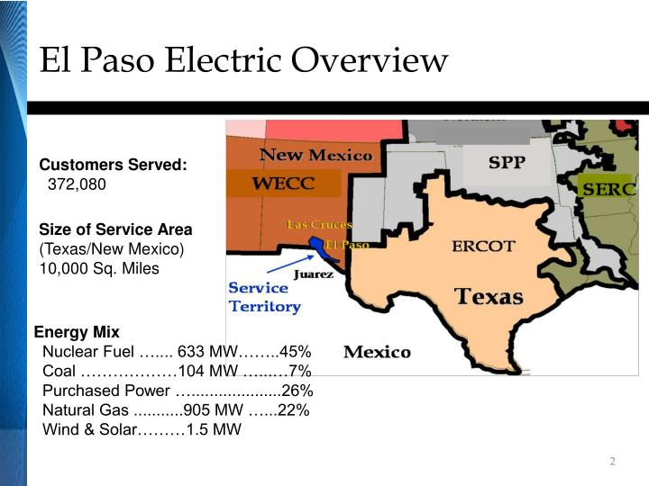El paso electric overview
