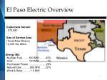 el paso electric overview