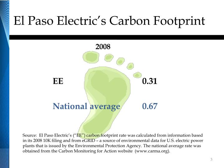 El paso electric s carbon footprint