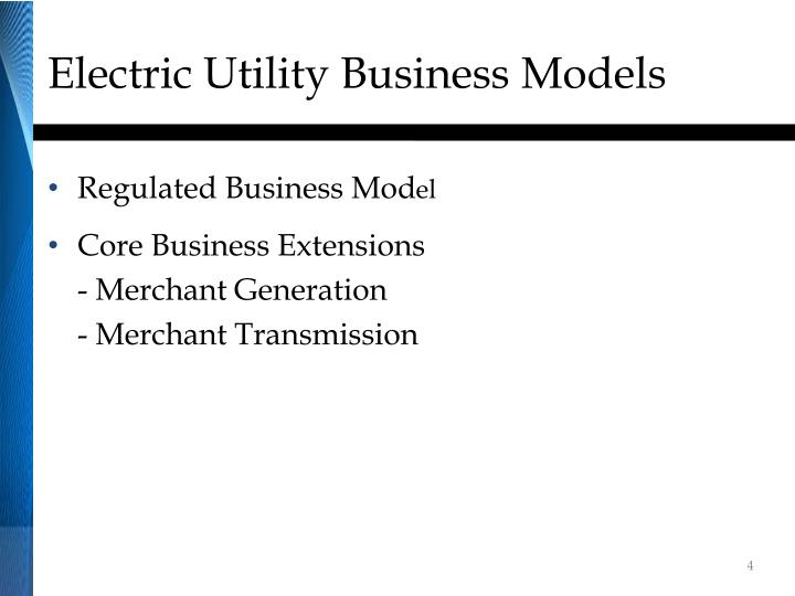 Electric Utility Business Models