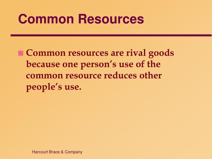 Common Resources