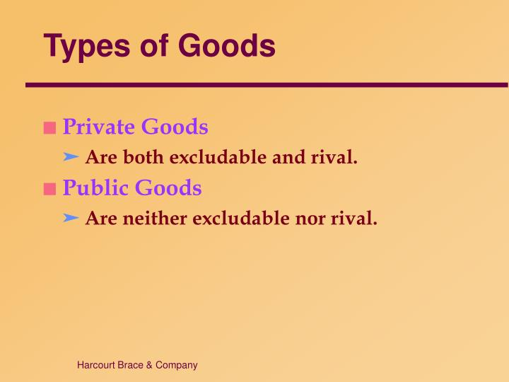 Types of Goods