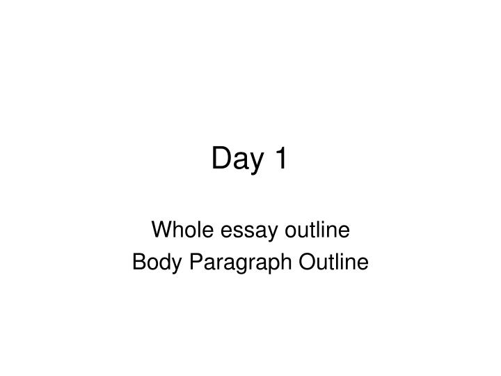 a perfect essay outline