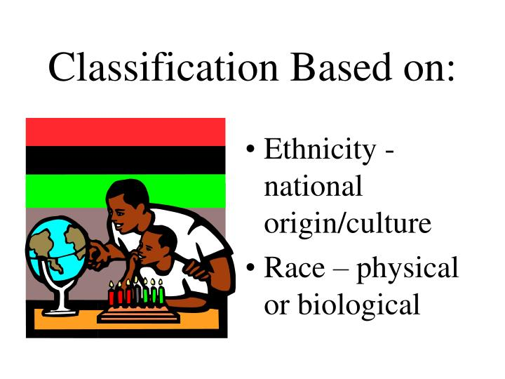Classification Based on:
