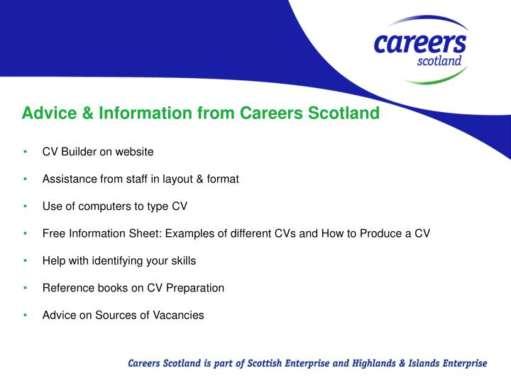 Advice & Information from Careers Scotland