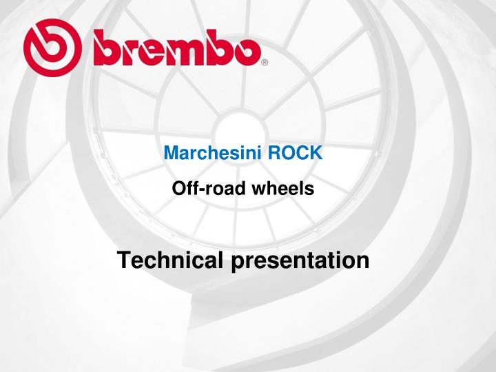 Marchesini rock off road wheels