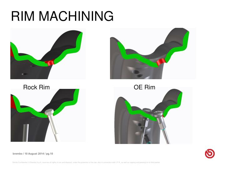 RIM MACHINING