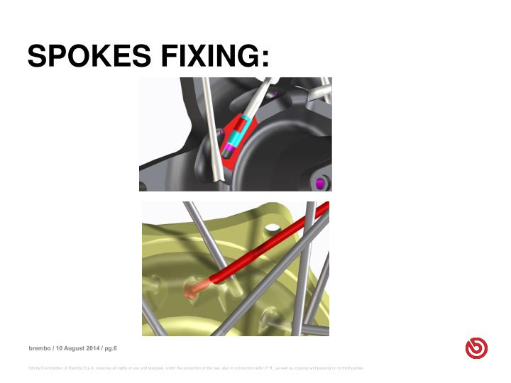 SPOKES FIXING: