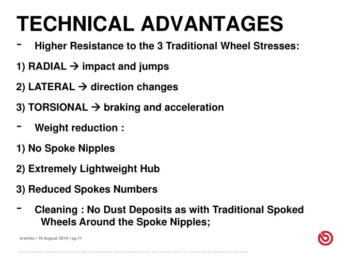 TECHNICAL ADVANTAGES
