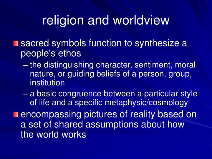 religion and worldview