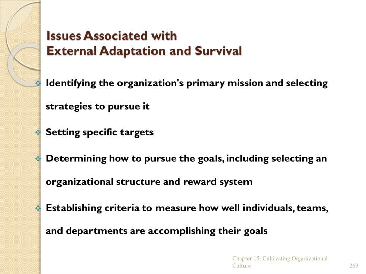 Issues Associated with