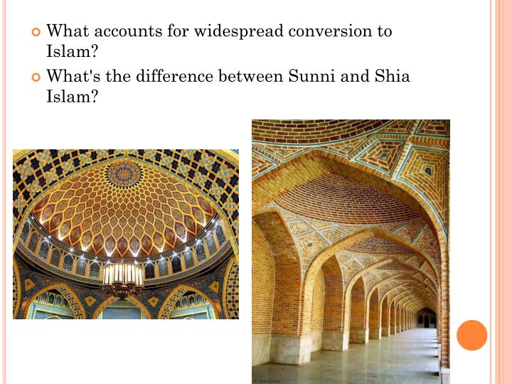 What accounts for widespread conversion to Islam?