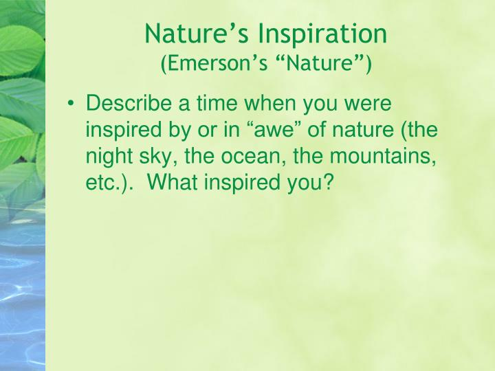 Nature's Inspiration