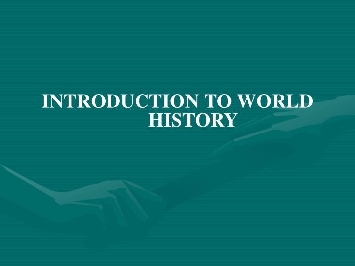 an introduction to the history of the new world Where the world comes to study the bible study study by (even though the textual history is since the jews would be attempting to win a new governor to.