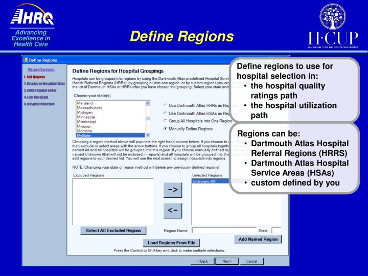 Define Regions