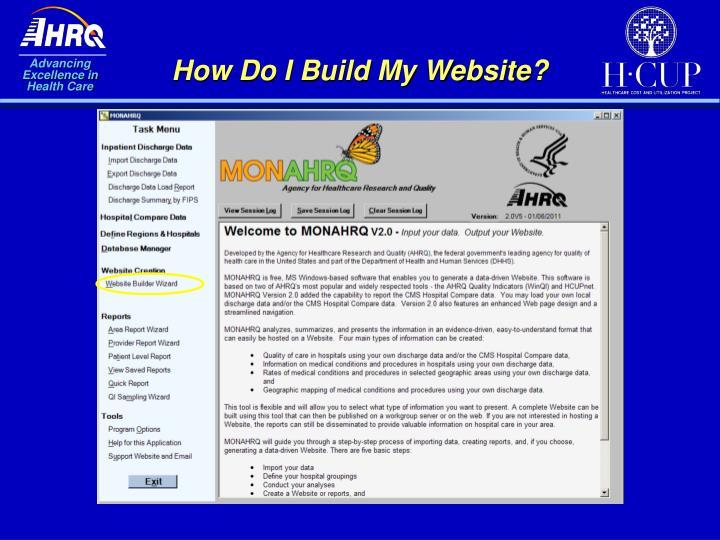 How Do I Build My Website?