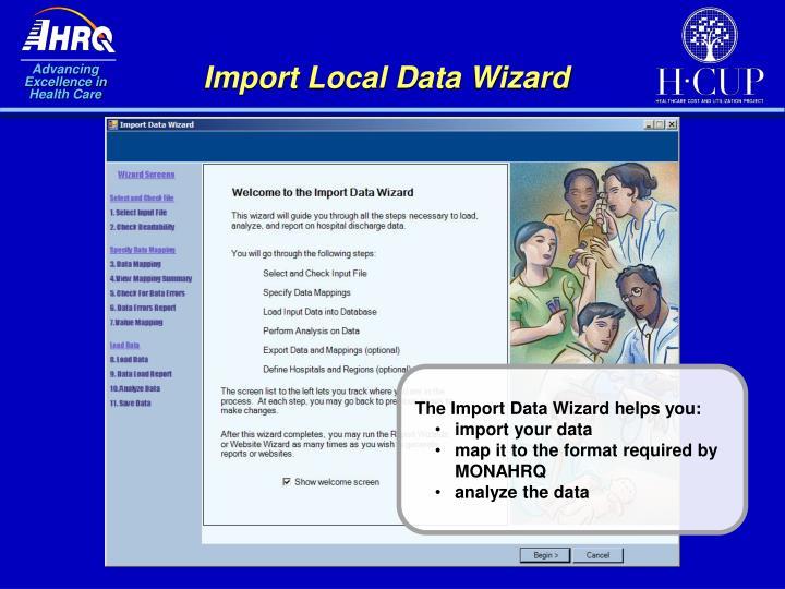 Import Local Data Wizard