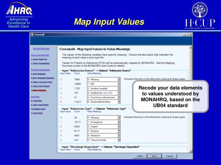Map Input Values