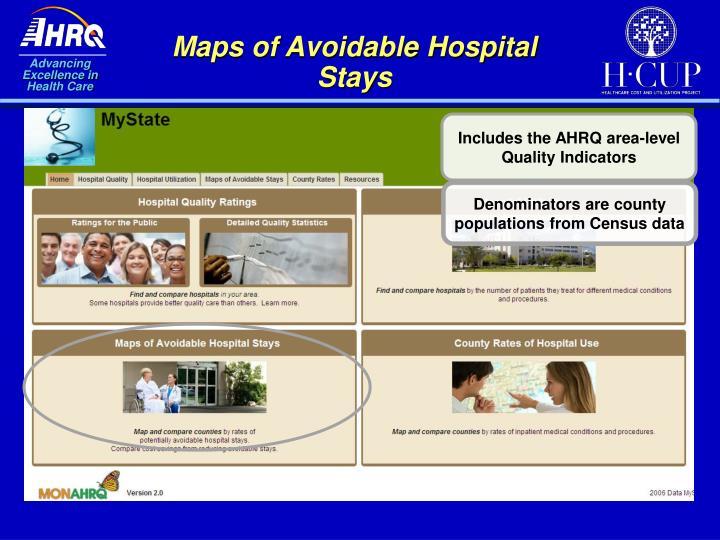 Maps of Avoidable Hospital