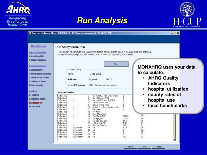 Run Analysis