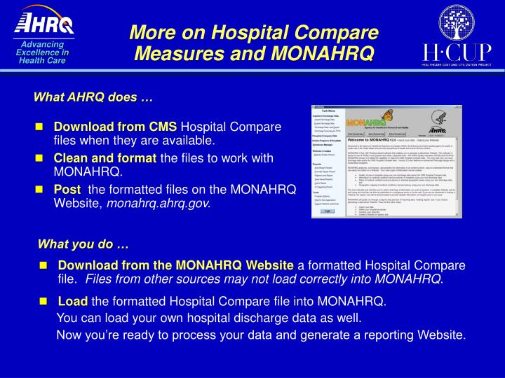 More on Hospital Compare Measures and MONAHRQ