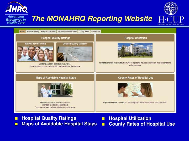 The MONAHRQ Reporting Website