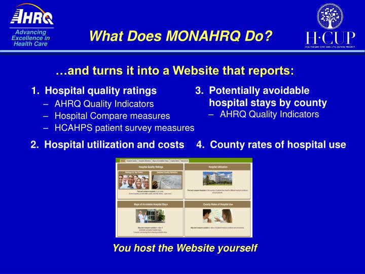 What Does MONAHRQ Do?