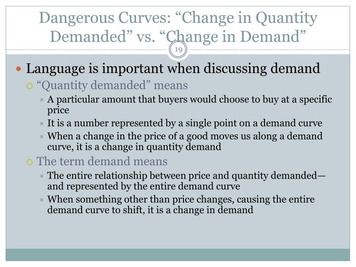 "Dangerous Curves: ""Change in Quantity Demanded"" vs. ""Change in Demand"""