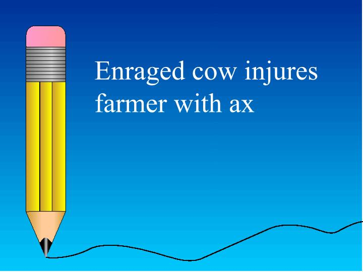 Enraged cow injures farmer with ax