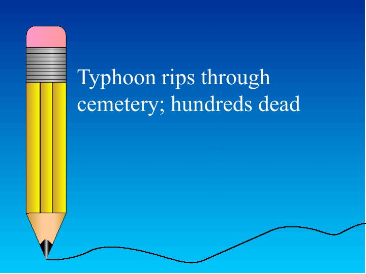 Typhoon rips through cemetery; hundreds dead
