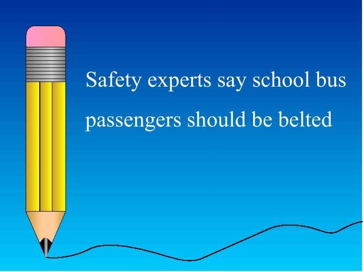 Safety experts say school bus