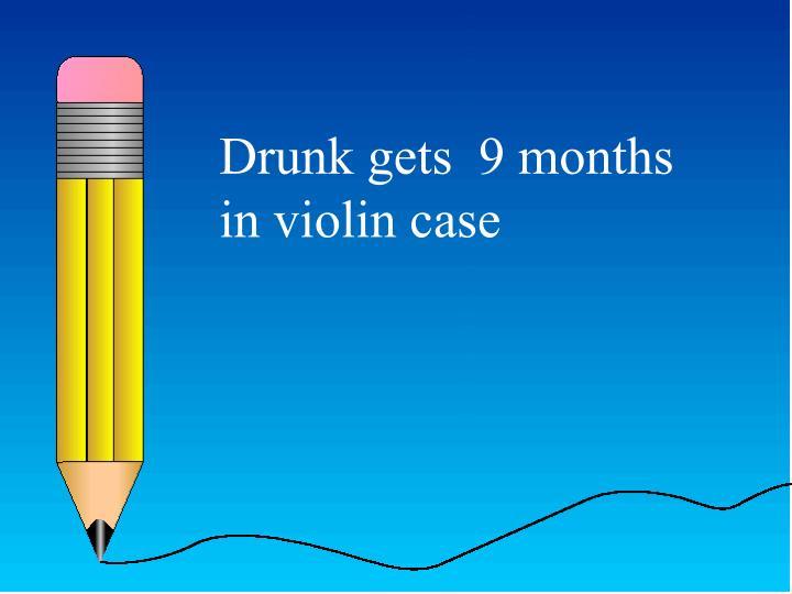 Drunk gets  9 months in violin case