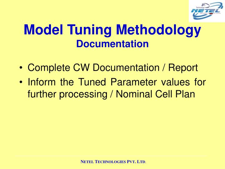 Model Tuning Methodology