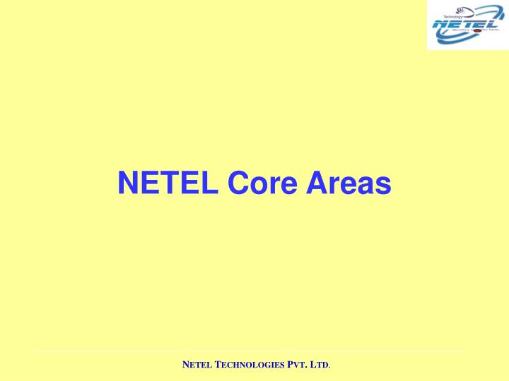 NETEL Core Areas