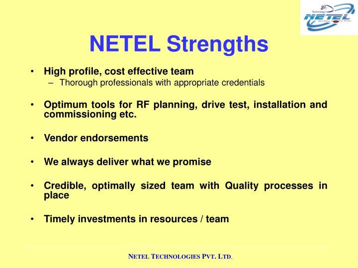 NETEL Strengths